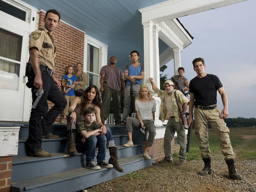 Season 2 cast of The Walking Dead (Photo by Matthew Welch/AMC) Melissa McBride The Walking Dead