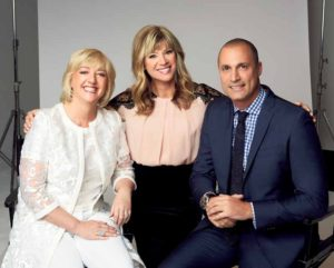 Fashion photographer, Nigel Barker joined the PRAI team in November as its global creative director, pictured with Kangas (left) and HSN Host Amy Morrison.